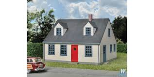 walthers cape cod house kit 4 1 4 x 3 5 8 x 3