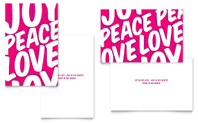 indesign template greeting card peace love joy greeting card template word publisher