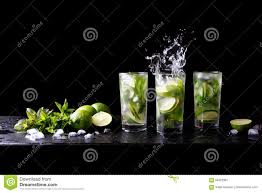 mojito summer party refreshing tropical cocktail non alcohol drink