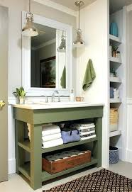 open bathroom cabinetsview in gallery recessed shelving beside the
