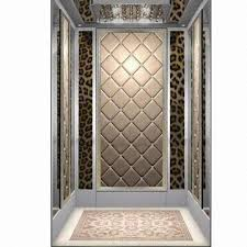leather walls elevator with luxurious soft leather walls and silver frame global