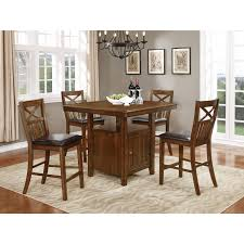 solid wood counter height table sets nathaniel home bryson collection brown wood counter height dining