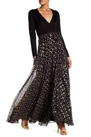 diane von furstenberg aviva contrast skirt wrap maxi dress