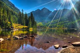 Colorado scenery images Wallpaper rays of light usa maroon bells colorado nature mountains jpg