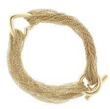 multi heart bracelet images Tiffany and co multi strand gold mesh link heart toggle bracelet JPG