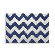 Navy Bath Mat Chevron Navy 20 Inch X 30 Inch Bath Rug Bed Bath Beyond