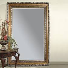 Bevelled Floor Mirror by Shop Bassett Mirror Company Amadeus Gold Leaf Beveled Floor Mirror