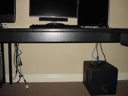 Cable Management Computer Desk Computer Cable Management On The Cheap 5 Steps