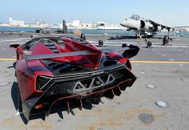 New Lamborghini Veneno - veneno roadster presented on aircraft carrier nave cavour