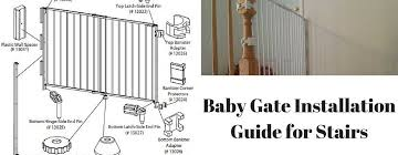 Baby Gate For Top Of Stairs With Banister And Wall Best Child Safety Gate Installation Guide For Stairs