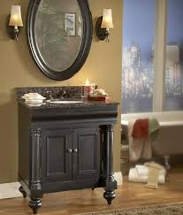 36 Bathroom Vanity With Granite Top by Weathered Black Bathroom Vanities Getting A Grunge Free Aged Finish