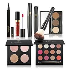 huamianli 7pcs cosmetic makeup set 4 colors pressed