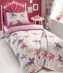 girls pink and purple bedding girls divine unicorns duvet quilt cover bed sets or curtains or