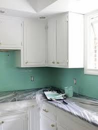 painting kitchen backsplash painted tile backsplash cover those tiles remodeling