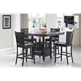contemporary counter height table amazon com coaster stanton contemporary counter table in black