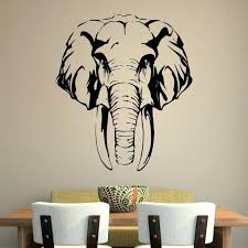 wall ideas silver elephant head wall decor white elephant head