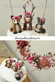 woodland cake toppers woodland animals part 2 fox cake topper cake creations