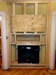 Corner Electric Fireplace Corner Of Living Room Framed Fireplace Installed Niche Electric