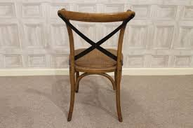 Cross Back Chair Oak Bentwood Chairs With Metal Cross Back And Rattan Seat