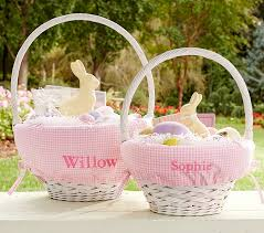 personalized easter basket liners gingham easter basket liners pottery barn kids