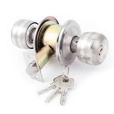 Bedroom Bathroom Round Knobs Door Knob Lock Locks Hardware W Keys - Bathroom door knob with lock