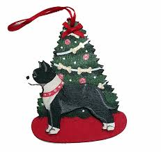 staffordshire terrier pit bull ornaments for the