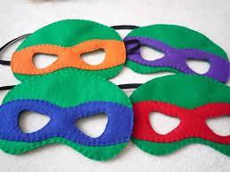 felt ninja turtle masks 4 littlestfeltshop etsy
