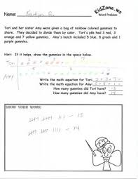 kidzone math word problems