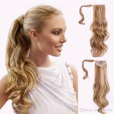 clip on ponytail clip ponytail hair extensions synthetic curly wavy hair pieces