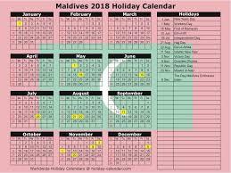 2018 Calendar Islamic Maldives 2017 2018 Calendar