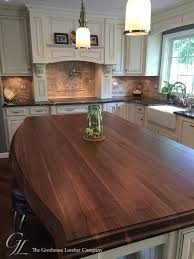 custom walnut kitchen island countertop in columbia maryland https