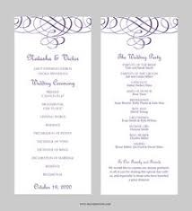wedding program design template wedding program template instant edit wording chic