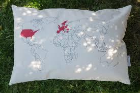 A World Map by World Map Pillow Project On Kickstarter Bas Kooijman Pulse
