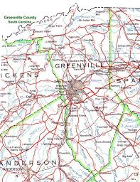 road map of south carolina greenville county south carolina part of the usgenweb