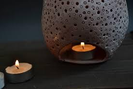 ceramic decor night light gift ceramic skull candle holder candle