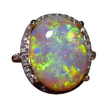 black crystal rings images Big black crystal opal ring with diamonds flashopal jpg