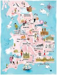 Newcastle England Map by Tilly Aka Running For Crayons Freelance Illustrator