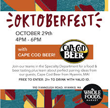 Cape Cod Brewery Hyannis - whole foods oktoberfest 10 29 cape cod beer cape cod beer