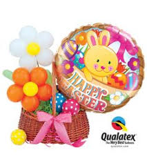 Easter Decorations With Balloons by This Easter Bunny Is Made From Balloons Not Chocolate Perfect For