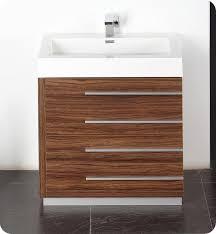 Walnut Bathroom Vanity 29 5 Fresca Livello Fvn8030gw Walnut Modern Bathroom Vanity W