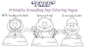 groundhog coloring page eson me