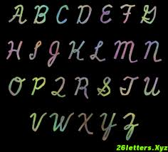fancy cursive alphabets wall graffiti art