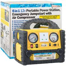 6 in 1 12v portable power station emergency jumpstart u0026 air
