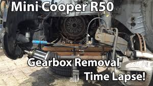 mini cooper r50 2002 gearbox removal time lapse youtube