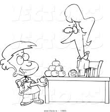 apple clipart coloring pages
