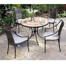 round wooden patio table and chairs backyard remodeling round