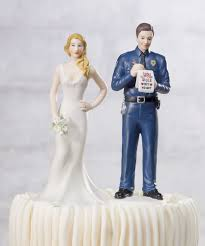 unique wedding cake toppers and groom a citation policeman groom wedding cake topper custom colors