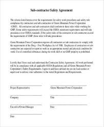 sample subcontractor agreement forms 8 free documents in word pdf