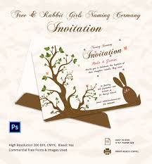 Naming Ceremony Invitation Card 28 Naming Ceremony Invitation Template Paper Couture Stationery