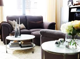 modern small living room with coffee table on wheels trendy small